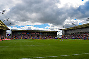 general view of play during the Ladbrokes Challenge Cup Semi-Final  match Warrington Wolves -V- Wakefield Trinity Wildcats at , Leigh, Greater Manchester, England on Saturday, July 30, 2016. (Steve Flynn/Image of Sport)