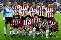 Fotball<br /> UEFA Champions League<br /> 17.09.2003<br /> PSV Eindhoven v Monaco<br /> Norway Only<br /> Foto: Digitalsport<br /> <br /> PSV<br /> achter: waterreus - van bommel - ooijer - robben - van der schaaf en bouma<br /> voor: rommedahl - park - kezman - lee - colin