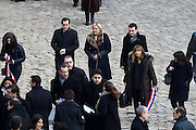 TRIBUTE TO THE VICTIMS OF 13 November 2015 in PARIS<br /> Nicolas Bay - Marine Le Pen - Florian Philippot<br /> ©Exclusivepix Media