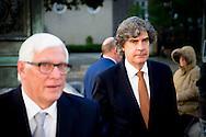 DEN HAAG - Marcel de Graaff pvv nederlandse leden van het europees parlement komen aan bij paleis Noordeinde  voor COPYRIGHT ROBIN UTRECHT