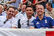 Cricket fans during 2nd day of the Investec Ashes Test match between England and Australia at Trent Bridge, Nottingham, United Kingdom on 7 August 2015. Photo by Shane Healey.