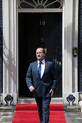 © licensed to London News Pictures. London, UK 10/07/2012. President of France Francois Hollande leaving No 10 in Downing Street, after meeting British Prime Minister David Cameron on July 10,2012. Photo credit: Tolga Akmen/LNP