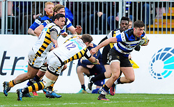 Adam Hastings of Bath Rugby goes on the attack - Mandatory byline: Patrick Khachfe/JMP - 07966 386802 - 04/03/2017 - RUGBY UNION - The Recreation Ground - Bath, England - Bath Rugby v Wasps - Aviva Premiership.