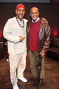 "October 20, 2012-New York, NY: (L-R) Hip Hop Living Legend DJ Kool Herc, Co-Founder of Hip Hop Culture and Actor/Social Activist Harry Belafonte at From Beat Street to These Streets: Hip Hop Then and Now panel discussion and special screening of "" Beat Street"" co-hosted by the Schomburg Center, the Tribeca Youth Screening Series & Belafonte Enterprises and held at The Schomburg Center on October 20, 2012 in Harlem, New York City  (Terrence Jennings)"