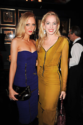 Left to right, sisters LIZZY PATTINSON and VICTORIA PATTINSON at the Tatler Little Black Book Party held at Tramp, 40 Jermyn Street, London on 3rd November 2010.
