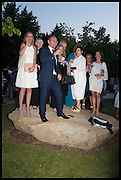2014 Serpentine's summer party sponsored by Brioni.with a pavilion designed this year by Chilean architect Smiljan Radic  Kensington Gdns. London. 1July 2014
