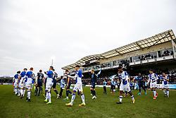 Bristol Rovers and Southend United walk out - Rogan/JMP - 09/12/2017 - FOOTBALL - Memorial Stadium - Bristol, England - Bristol Rovers v Southend United - EFL Sky Bet League One.