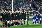 National Anthems during the Rugby Championship match between the New Zealand All Blacks & South Africa at Westpac Stadium, Wellington on Saturday 27th July 2019. Copyright Photo: Grant Down / www.Photosport.nz