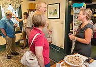 Goshen, New York - People enjoy the Goshen Art Walk on Sept 4, 2015.