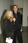 Deborah Orr and Will Self, Work by Mexican artist, Gabriel Orozco. Gallery opening & private view at new White Cube space, 25-26 Mason's Yard, London and afterwards at Claridges. London. 27 September 2006. <br /> -DO NOT ARCHIVE-© Copyright Photograph by Dafydd Jones 66 Stockwell Park Rd. London SW9 0DA Tel 020 7733 0108 www.dafjones.com