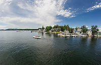 Boaters head out into Wolfeboro bay in Wolfeboro, NH.  ©2106 Karen Bobotas Photographer