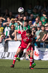 NEWTOWN, WALES - Sunday, May 6, 2018: Michael Wilde of Connahs Quay Nomads competes with Declan Walker of Aberystwyth Town during the FAW Welsh Cup Final between Aberystwyth Town and Connahs Quay Nomads at Latham Park. (Pic by Paul Greenwood/Propaganda)