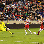 Thierry Henry, New York Red Bulls, in action during his Man of the Match performance as he lays the ball on for Kenny Cooper to score during the New York Red Bulls V Toronto FC  Major League Soccer regular season match at Red Bull Arena, Harrison. New Jersey. USA. 29th September 2012. Photo Tim Clayton