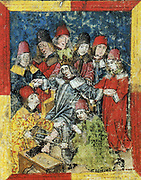 Frederick III of Habsburg (September 21, 1415 – August 19, 1493) was elected as German King as the successor of Albert II in 1440. At the age of 77, Frederick III died at Linz in a failed attempt to have his left leg amputated.  His amputated leg was buried with him.