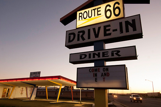 Drive-In restaurant along Route 66; Gallup, New Mexico