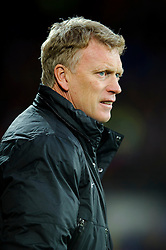 Man Utd Manager David Moyes (SCO) looks on before the match - Photo mandatory by-line: Rogan Thomson/JMP - Tel: Mobile: 07966 386802 - 24/11/2013 - SPORT - FOOTBALL - Cardiff City Stadium - Cardiff City v Manchester United - Barclays Premier League.