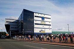 A general view as fans queue outside Sixways Stadium - Mandatory by-line: Matt McNulty/JMP - 14/07/2017 - Sixways Stadium - Worcester, England