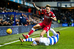 Josh Brownhill of Bristol City is tackled by Jake Bidwell of Queens Park Rangers - Rogan/JMP - 23/12/2017 - Loftus Road - London, England - Queens Park Rangers v Bristol City - Sky Bet Championship.
