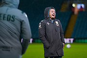 Leeds United midfielder Kalvin Phillips (23) arrives at the ground during the EFL Sky Bet Championship match between Leeds United and Hull City at Elland Road, Leeds, England on 10 December 2019.