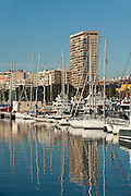 Marina at Alicante city port.,Alicante, Costa Blanca,Spain,Europe