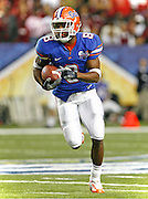 Florida RB Percy Harvin during the SEC Championship game between the Arkansas Razorbacks and the Florida Gators at the Georgia Dome in Atlanta, GA on December 2, 2006.<br />