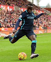 Bacary Sagna of Manchester City crosses - Mandatory byline: Matt McNulty/JMP - 07966 386802 - 05/12/2015 - FOOTBALL - Britannia Stadium - Stoke, England - Stoke City v Manchester City - Barclays Premier League