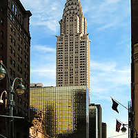 Chrysler Building and Madison Avenue in Manhattan, New York City.