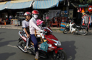 A street scene on Sa Dec  city  the Mekong River in Vietnam<br /> <br />  photo by Dennis Brack