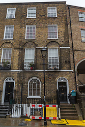 Antony Zomparelli, whose flat occupies the upper two floors of this Georgian Terrace in Islington, bought his two bedroom property through Right-To-Buy in 2014, but has now been asked to pay more than twice the price after the council mistakenly sold it to him as a one bedroom flat, a small 8ft x 8ft box room being considered a second bedroom. London, February 04 2019.