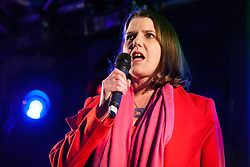 London, UK. 15th January, 2019. Jo Swinson, Deputy Leader of the Liberal Democrats, addresses pro-EU activists attending a People's Vote rally in Parliament Square as MPs vote in the House of Commons on Prime Minister Theresa May's proposed final Brexit withdrawal agreement.