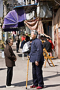 Pensioners in Zi Zhong Road, old French Concession Quarter in Shanghai, China