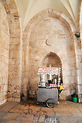 Israel, Jerusalem, old city, a cart selling Salep