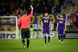 Referee 	Perić Dragoslav  with Yellow card during football match between NK Maribor and ND Gorica in 22nd Round of Prva liga Telekom Slovenije 2018/19, on March 09, 2019 in Ljudski Vrt, Maribor, Slovenia. Photo by Blaž Weindorfer / Sportida