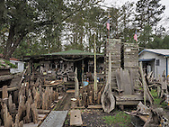 Adam's Cypress Swamp Driftwood Family Museum in Pierre Part, Louisiana.