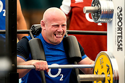 Dan Cole of England trains in the gym at Clifton College - Mandatory by-line: Robbie Stephenson/JMP - 15/07/2019 - RUGBY - England - England training session ahead of Rugby World Cup