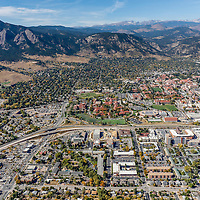 Boulder, CO Stock Aerial Photography