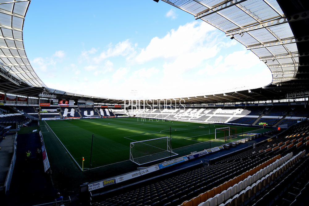 Hull City KC Stadium before  the Sky Bet Championship match between Hull City and Middlesbrough at the KC Stadium, Kingston upon Hull, England on 7 November 2015. Photo by Ian Lyall.