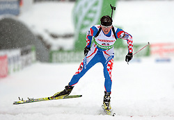 Croatia's FAK Jakov during the 10km sprint of the e.on Ruhrgas IBU Biathlon World Cup on Friday December the 11th, 2009 in Hochfilzen - PillerseeTal, Austria. The second e.on Ruhrgas IBU World Cup stage is taking place in Hochfilzen - PillerseeTal, Austria until Sunday the 13th of December.  (Photo by Pierre Teyssot / Sportida.com)