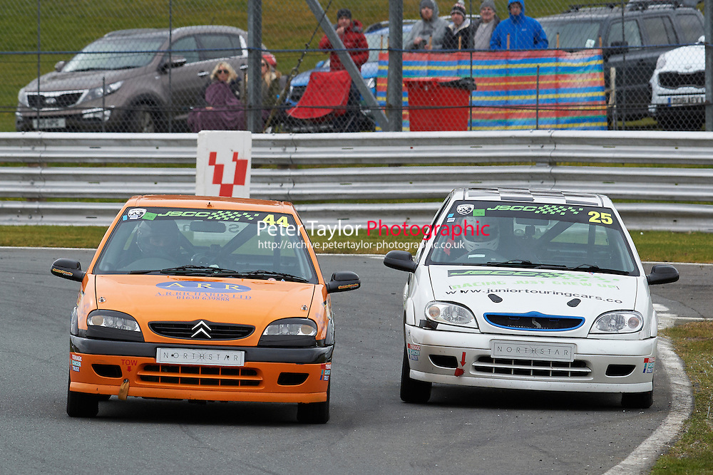 #44 George SUTTON Citroen Saxo VTR 1600 and #25 Edward MOORE Citroen Saxo VTR 1600 during Junior Saloon Car Championship as part of the BARC NW - Championship Raceday  at Oulton Park, Little Budworth, Cheshire, United Kingdom. March 19 2016. World Copyright Peter Taylor/PSP. Copy of publication required for printed pictures.  Every used picture is fee-liable. http://archive.petertaylor-photographic.co.uk