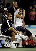 Roger Federer and Nadal Rafal at Dubai Tennis Championships.