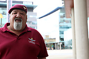 Ray Griffiths ex Para during the Soldier F Protest at Media City, Salford, United Kingdom on 18 May 2019.