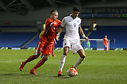 Dominic Solanke (Vitesse Arnhem, loan from Chelsea), England U21 during the UEFA European Championship Under 21 2017 Qualifier match between England and Switzerland at the American Express Community Stadium, Brighton and Hove, England on 16 November 2015. Photo by Phil Duncan.