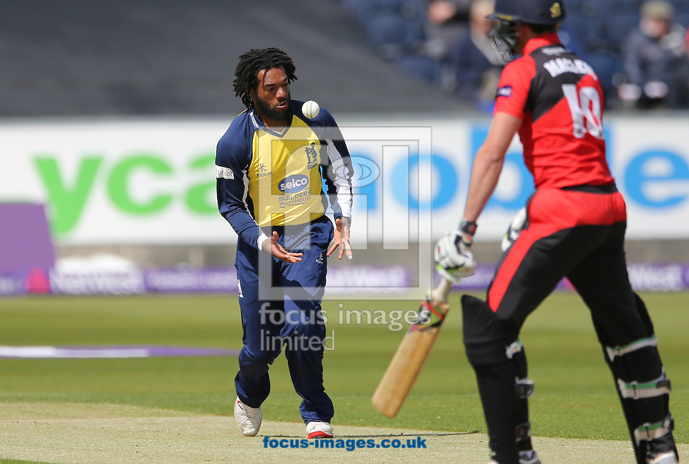 Recordo Gordon of Birmingham Bears dropping a catch during the Natwest T20 Blast match at Emirates Durham ICG, Chester-le-Street<br /> Picture by Simon Moore/Focus Images Ltd 07807 671782<br /> 06/06/2015