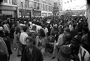 View of the crowd, Notting Hill Carnival, London, 1989