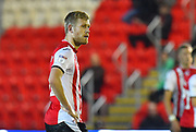 Jayden Stockley (11) of Exeter City who has joined Preston North End for a reported fee of £750,000, in action during the EFL Sky Bet League 2 match between Exeter City and Grimsby Town FC at St James' Park, Exeter, England on 29 December 2018.
