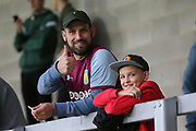 Villa fans during the second round or the Carabao EFL Cup match between Burton Albion and Aston Villa at the Pirelli Stadium, Burton upon Trent, England on 28 August 2018.