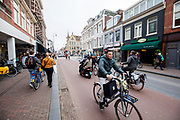 Fietsers in Haarlem.<br /> <br /> Cyclists in Haarlem.