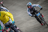 #25 during practice at the 2018 UCI BMX World Championships in Baku, Azerbaijan.