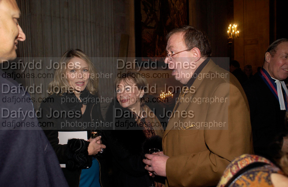 Ludmilla Macher, Alla Chaynyna and Sergei Chepik.  Sergei Chepik: St Paul's Cathedral - opening<br />St Paul's Cathedral, London, EC4, 6.30pmONE TIME USE ONLY - DO NOT ARCHIVE  &copy; Copyright Photograph by Dafydd Jones 66 Stockwell Park Rd. London SW9 0DA Tel 020 7733 0108 www.dafjones.com
