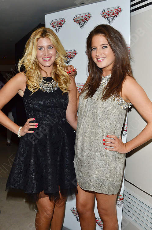 04.OCTOBER.2012. LONDON<br /> <br /> FRANCESCA HULL AND BINKY FELSTEAD ATTEND THE MONOPOLY MILLIONAIRE LAUNCH PARTY AT THE MAYFAIR HOTEL.<br /> <br /> BYLINE: EDBIMAGEARCHIVE.CO.UK<br /> <br /> *THIS IMAGE IS STRICTLY FOR UK NEWSPAPERS AND MAGAZINES ONLY*<br /> *FOR WORLD WIDE SALES AND WEB USE PLEASE CONTACT EDBIMAGEARCHIVE - 0208 954 5968*